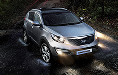 Kia Sportage EXterior Getting to grips with the road with the road